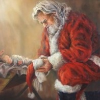 Santa kneeling 3